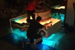 Install LED on CNY float