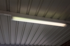 Replace fluorescent light fitting