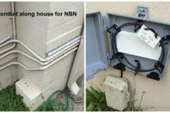 Install conduit for NBN