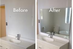 Hang install bathroom mirror