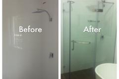 Install frameless shower screen